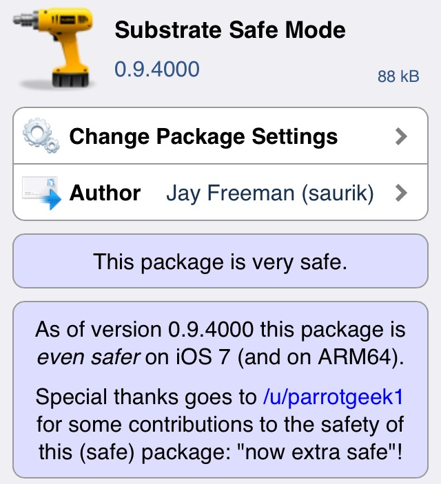 iOS 7 Untethered Jailbreak: Updated Substrate Safe Mode Supports A7 Devices