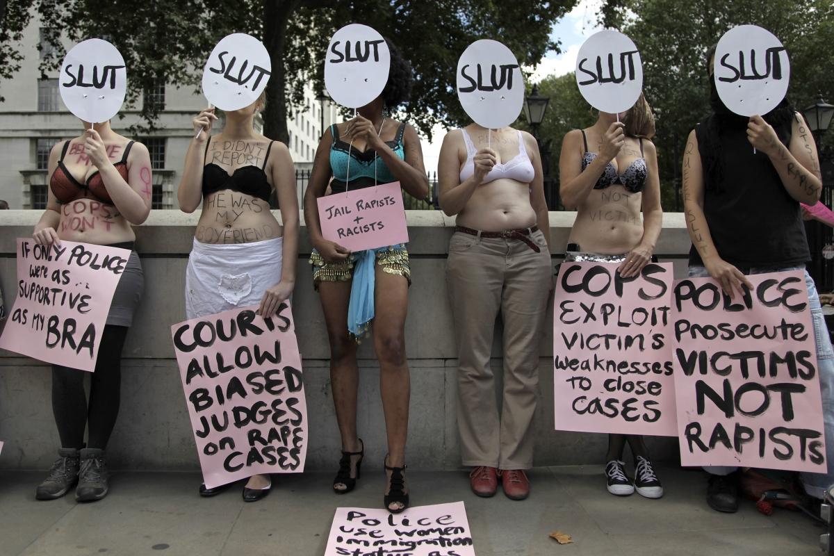 Rape protesters
