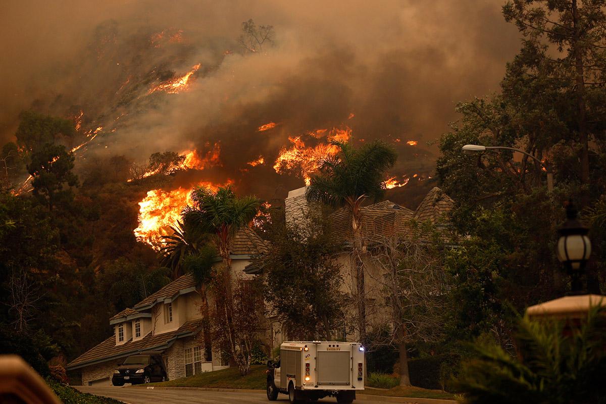 california fires houses