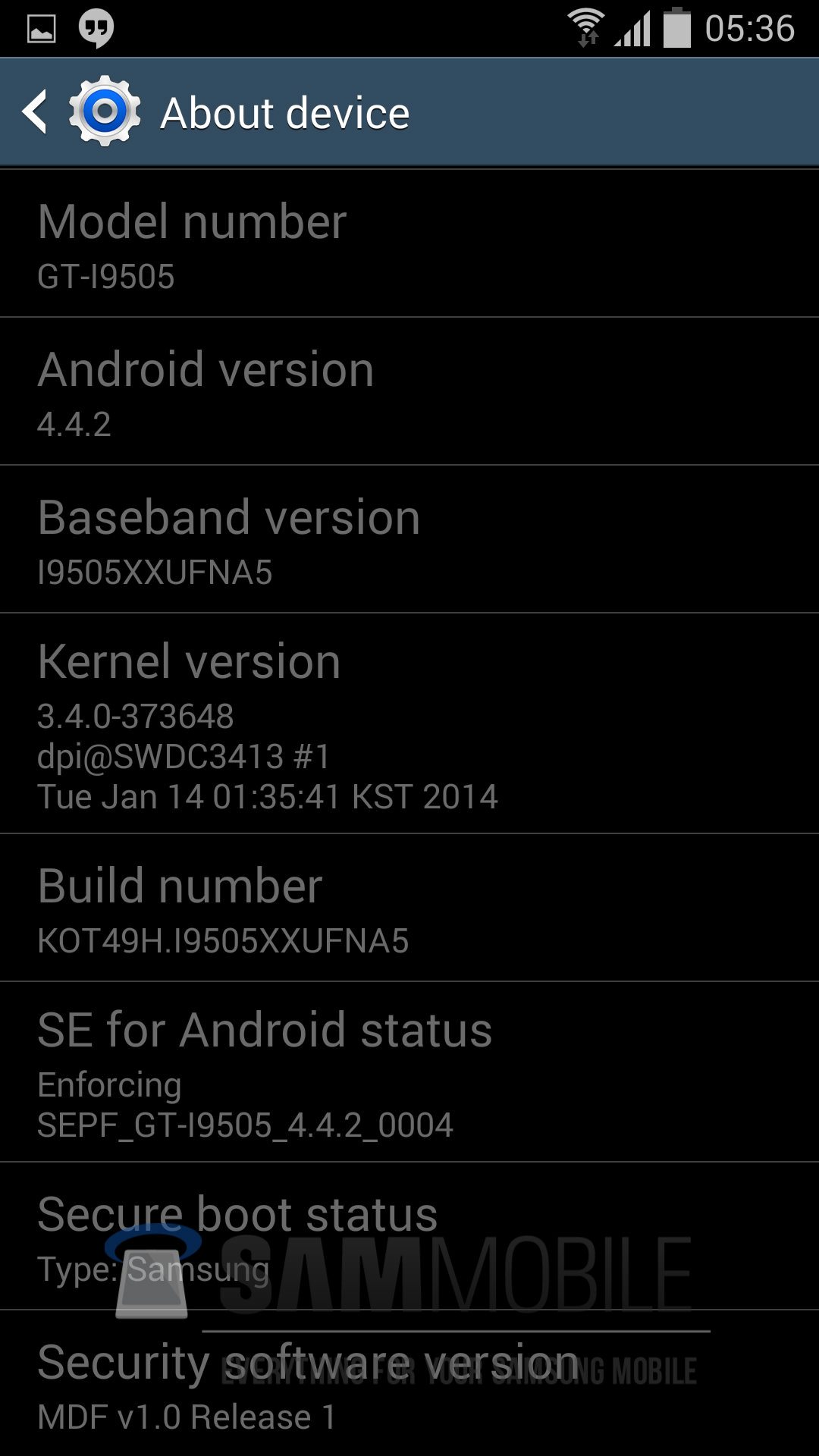 I9505XXUFNA5 Android 4.4.2 KitKat Test Firmware for Galaxy S4 Leaked