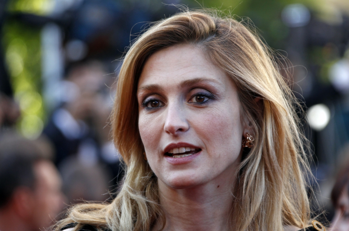 French actress Julie Gayet arrives on the red carpet at the 65th Cannes Film Festival.