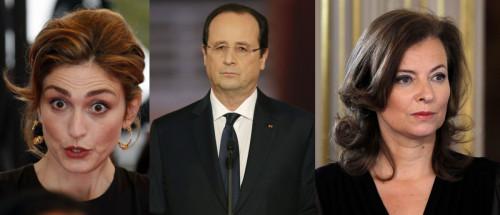 Francois Hollande, Julie Gayet and Valerie Trierweiler