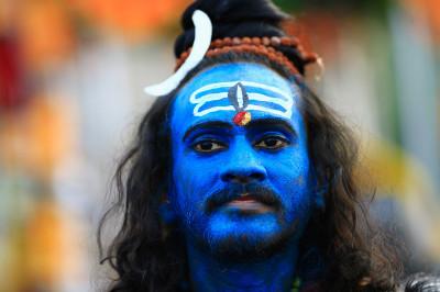 hindu blue face
