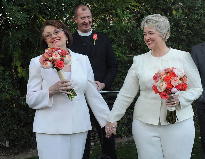 Annise Parker and Kathy Hubbard