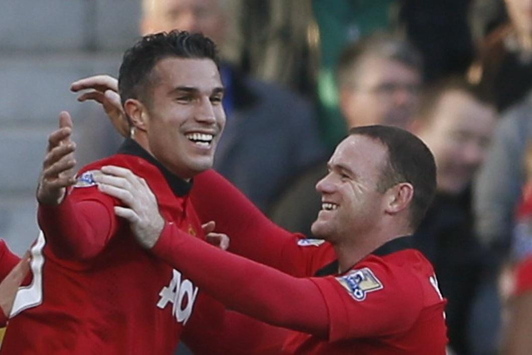 Robin van Persie and Wayne Rooney