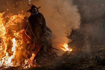 fire horse fall
