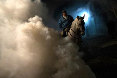 fire horse smoke