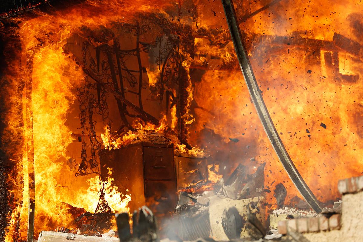 mattress burning