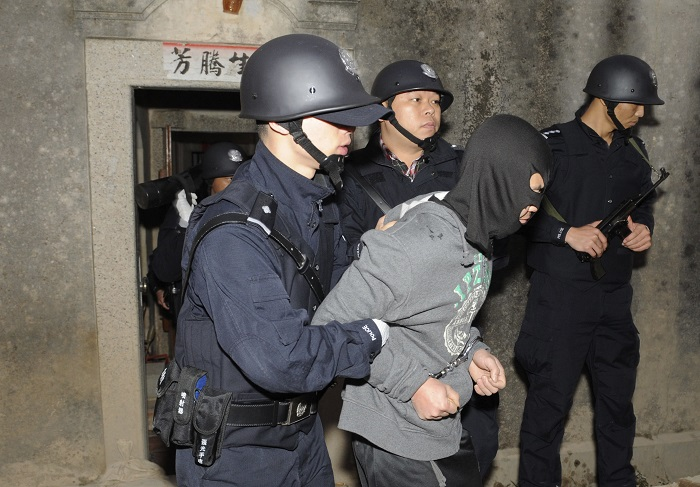 Hong Kong police arrested dozens of suspects during the raid, which  was a culmination of a nine-month undercover operation.