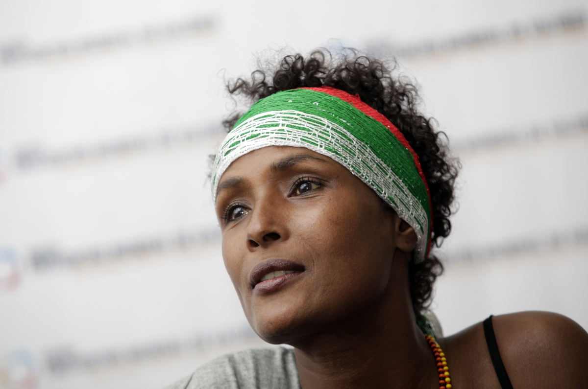 Human rights activist and top model Waris Dirie from Somalia