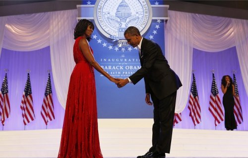 US President Barack Obama delivered an emotional tribute to the First Lady during her 50th birthday party celebrations.