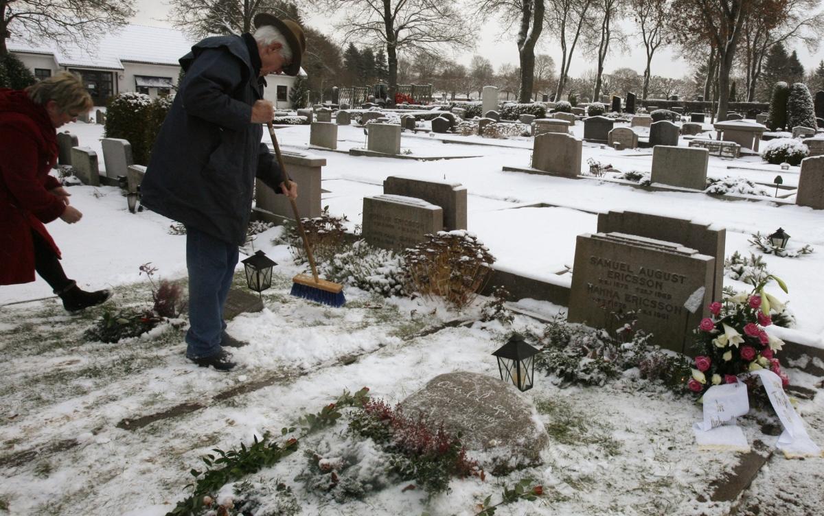 A graveyard in Sweden.