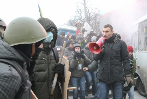 Growing unrest in Kiev over the policies of the Ukrainian government gave Vitaly Klitschko a platform