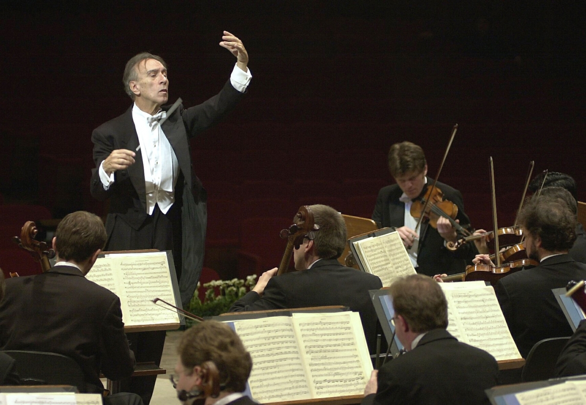 Italian conductor Claudio Abbado