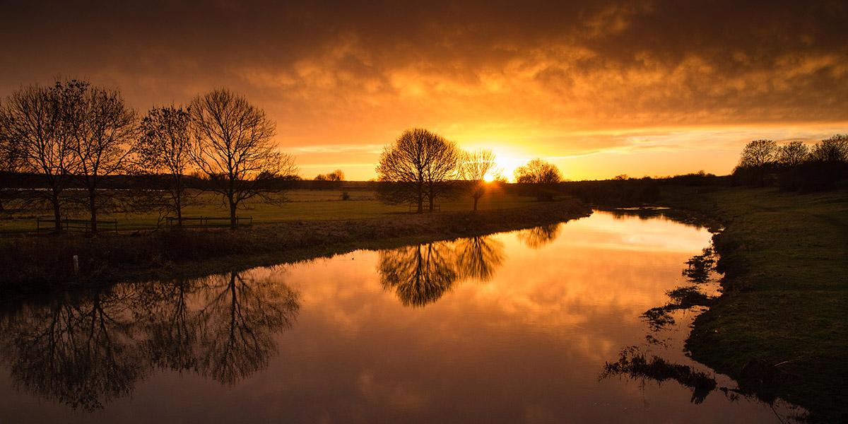 Sarah Lambert, The Last Sunset of 2013, Nene Park Peterborough