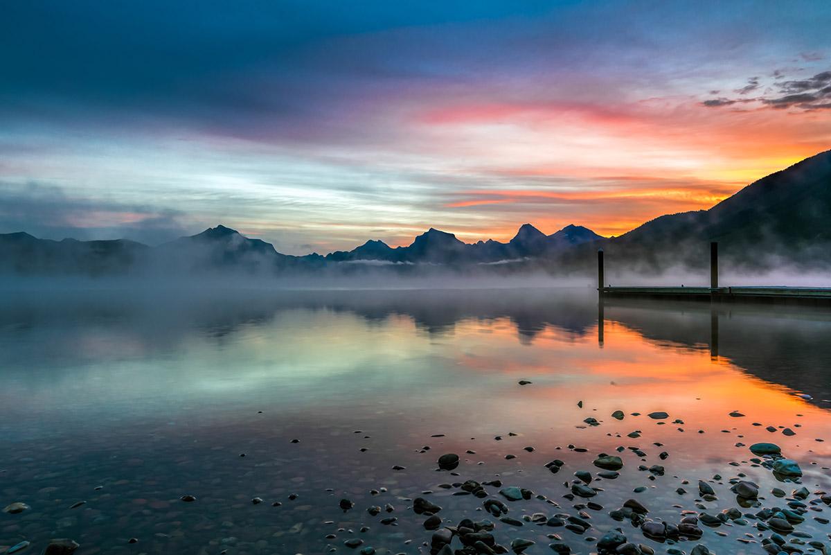 Phillip Bird, Sunrise from Apgar, Lake McDonald