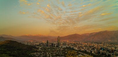 Robert W Griffiths, Santiago Sunset, Chile