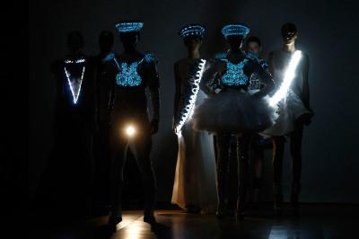 paris fashion neon