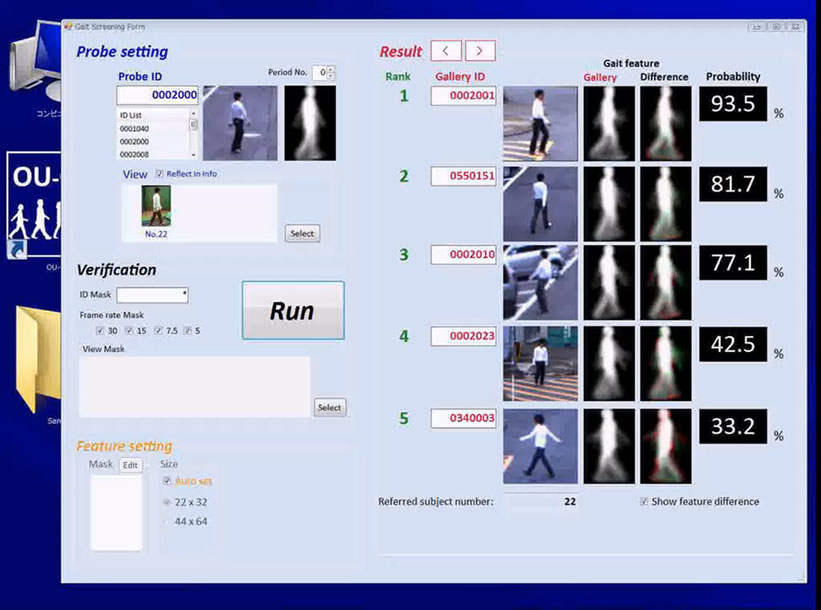 Criminal ID system using Gait Recognition to spot suspects