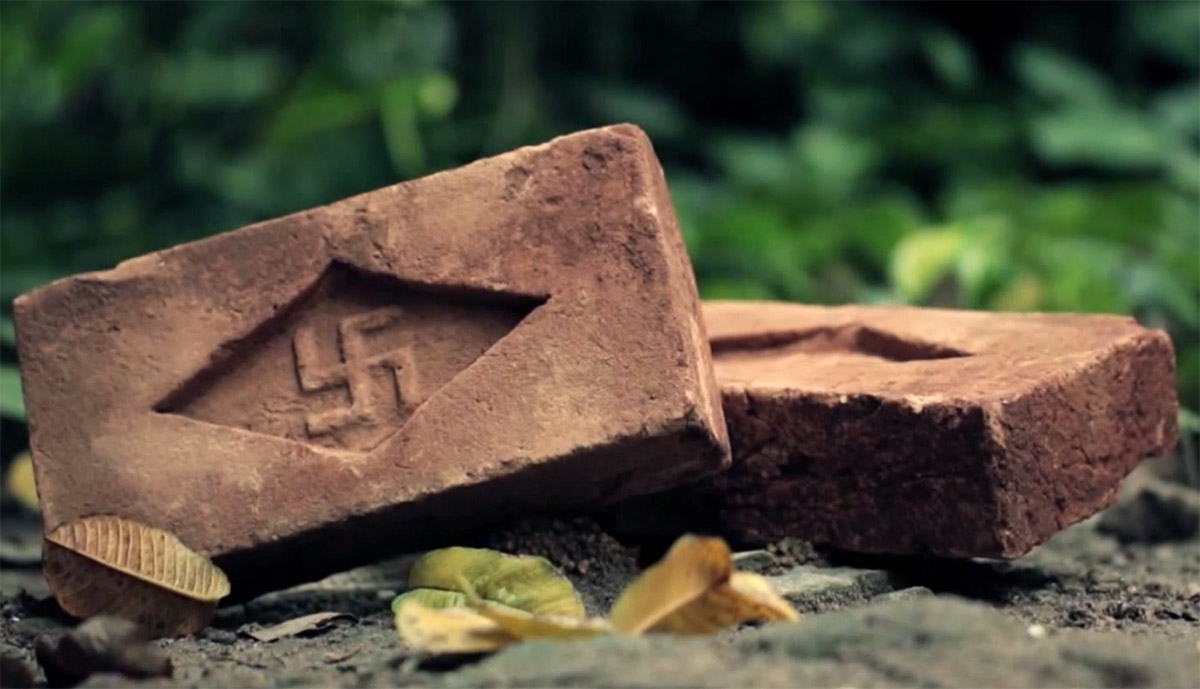 swastika bricks