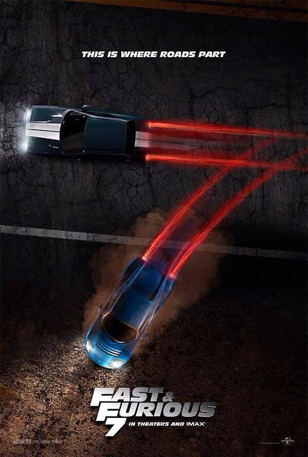Fan-made teaser poster of fast and furious 7