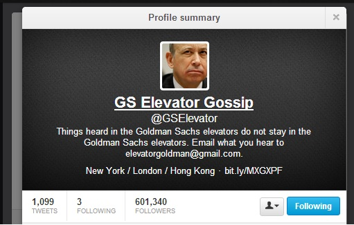 @GSElevator Author John Lefevre Never Worked for Goldman Sachs