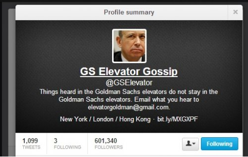 @GSElevator Twitter Account Author 'J.T. Stone' Seals Goldman Sachs Expose Book Deal