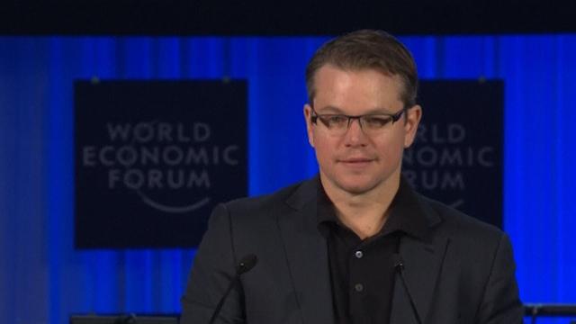 Matt Damon Receives WEF Award