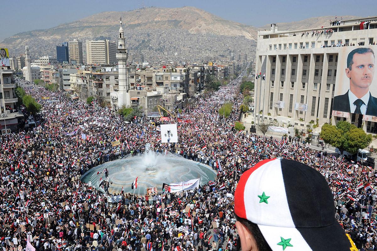 syria assad poster
