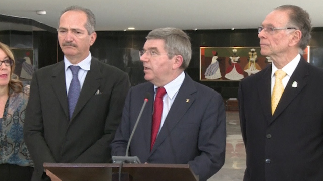 IOC President Bach 'Satisfied' With Brazil's Commitment