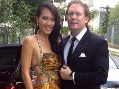 Anton Casey and beauty queen wife Bernice Wong, who was Miss Singapore 2003
