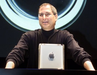 Steve Jobs with Mac G4 Cube