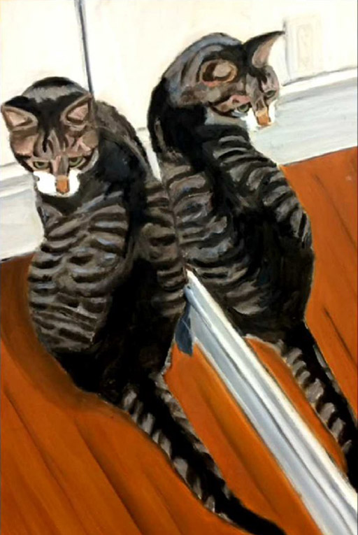 George W Bush\'s Naked Self Portraits and Paintings of Cats