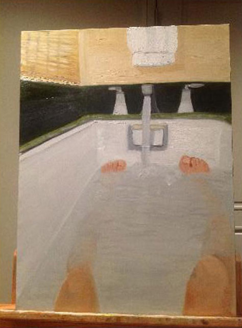 george bush nude bath