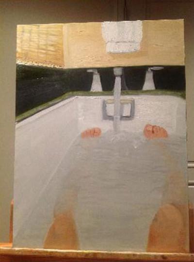 george bush nude bath
