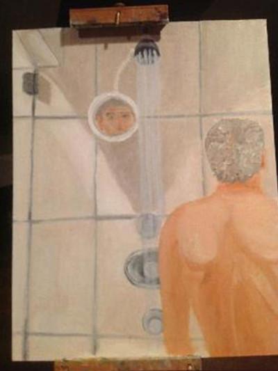 george bush shower