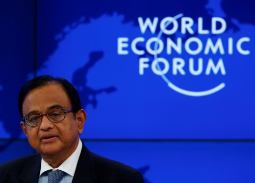 Indian Finance Minister P Chidambaram