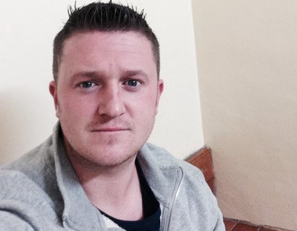 English Defence League founder Tommy Robinson after being convicted of mortgage fraud, last month