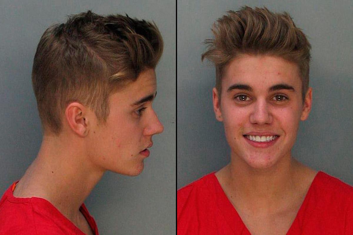 Justin Bieber mugshot