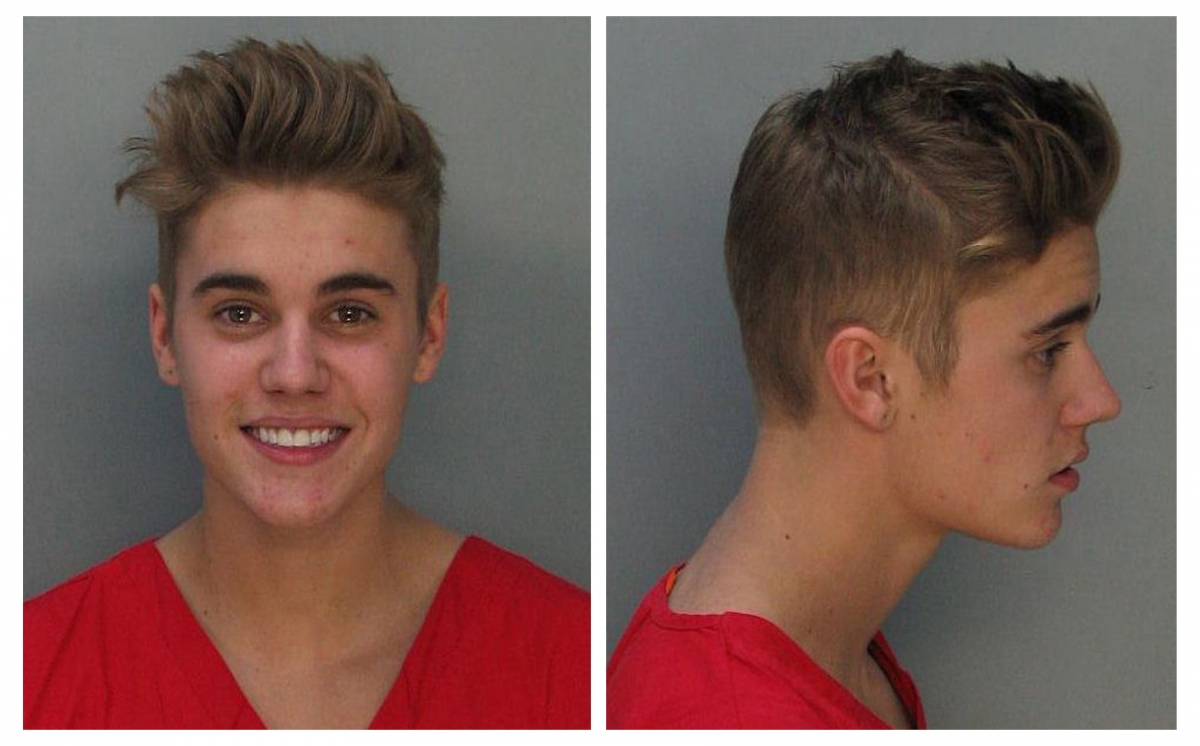 Canadian teen pop singer Justin Bieber is shown in this combo of booking photos provided by the Miami-Dade Corrections and Rehabilitation Department in Miami, Florida January 23, 2014.
