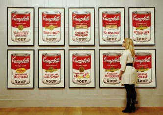Andy Warhol is most famous for the