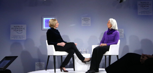 IMF Chief Christine Lagarde at the World Economic Forum in Davos, Switzerland.