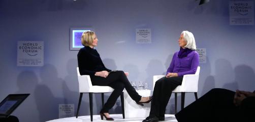 IMF Chief Christine Lagarde at the World Economic Forum in Davos, Switzerland.