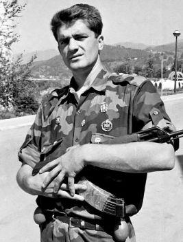 Milan Lukic is shown in Visegrad