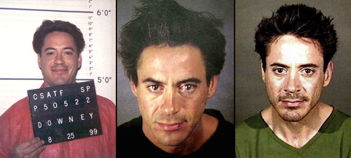 robert downey jr mugshots