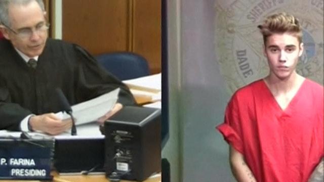 Pop Star Justin Bieber Appears in Miami Court