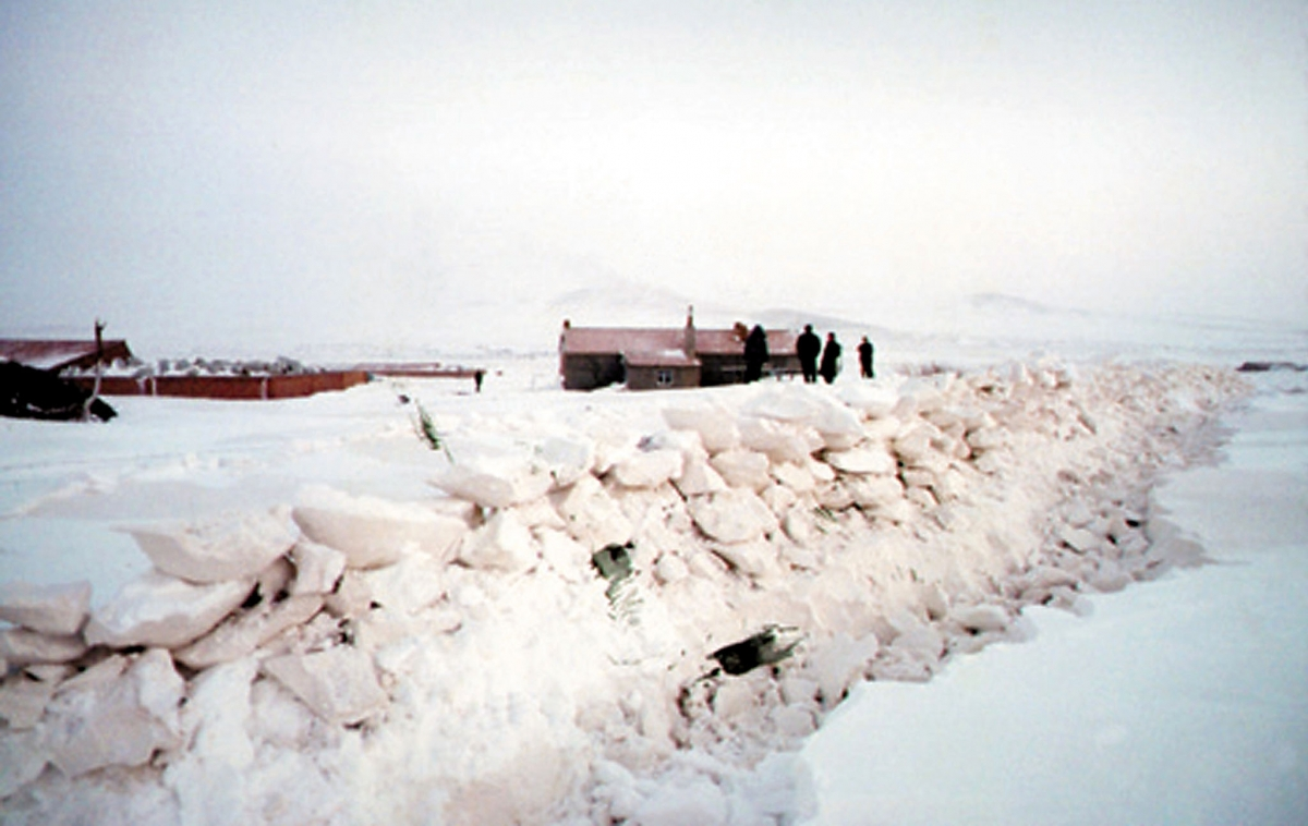Mongolia snow landscape