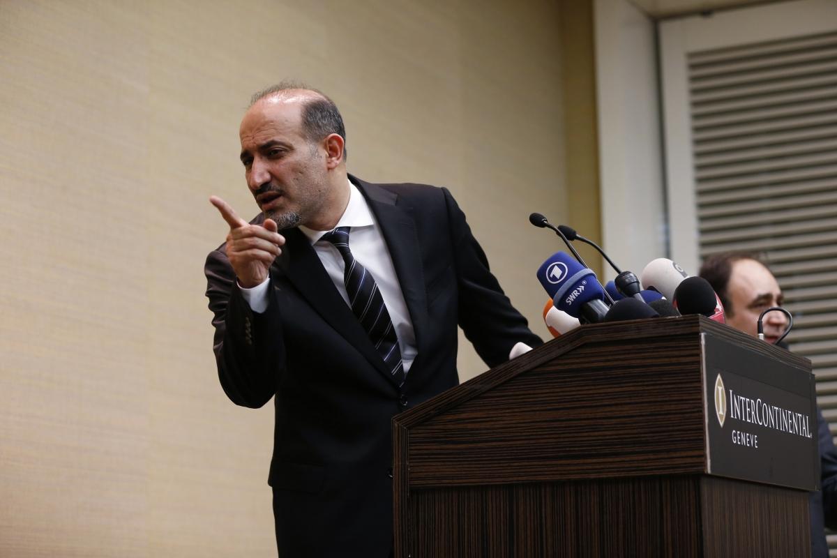 Syrian opposition leader Ahmed Jarba