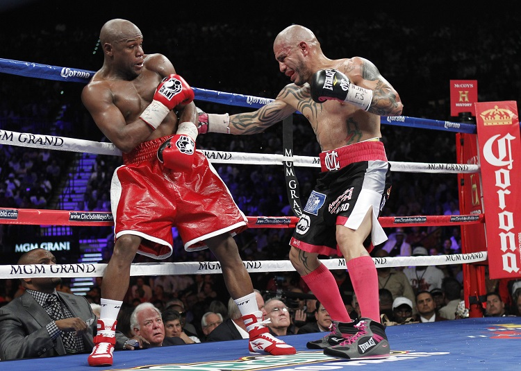 Floyd Mayweather Battles Miguel Cotto in 2012