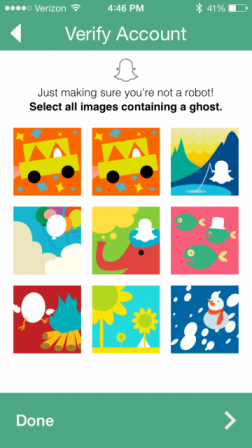 Snapchat's new ghost captcha feature